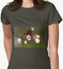 Cherry Buds Womens Fitted T-Shirt
