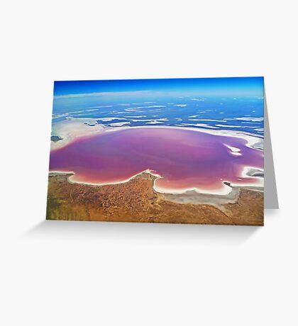 Lake Eyre - Aerial View Greeting Card