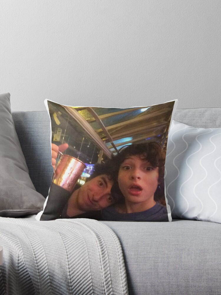 Quot Finn Wolfhard And Nick Wolfhard Quot Throw Pillows By