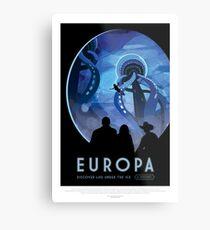 NASA JPL Space Tourism: Europa Metal Print