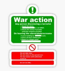 war Action Sticker