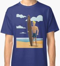 Surfer Dude on the Beach Classic T-Shirt