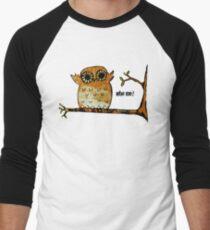 Who Me? Owl Men's Baseball ¾ T-Shirt