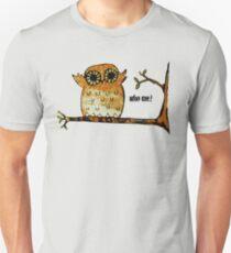 Who Me? Owl Unisex T-Shirt