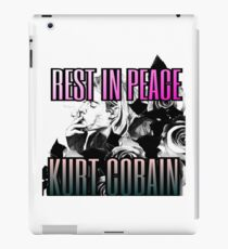 RIP Kurt Cobain Nirvana 90's Grunge  iPad Case/Skin