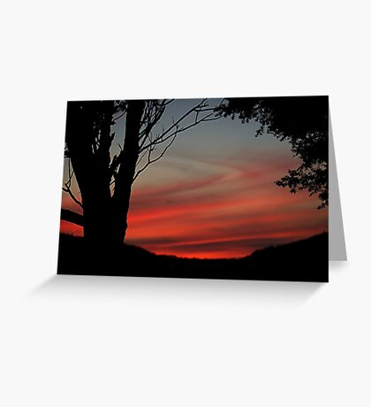 The red sky at night...........! Greeting Card