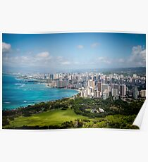 Honolulu from Diamond Head Poster