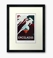 NASA JPL Space Tourism: Enceladus Framed Print