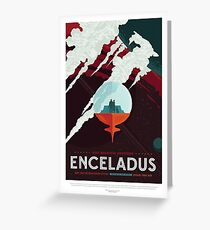 NASA JPL Space Tourism: Enceladus Greeting Card