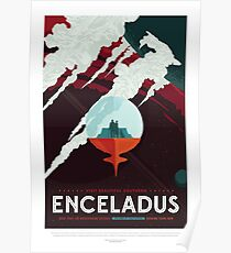 NASA JPL Space Tourism: Enceladus Poster