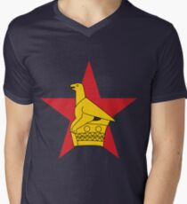 Zimbabwe T-Shirt mit V-Ausschnitt für Männer
