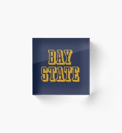 The Bay State - Vintage & Retro Acrylic Block