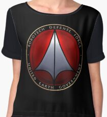 Robotech and logo Chiffon Top