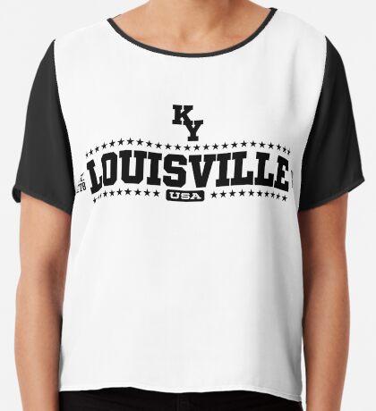 Louisville Kentucky USA Chiffon Top