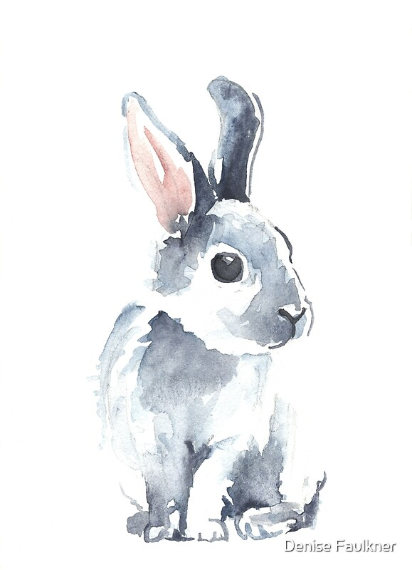 Moon Rabbit Ii Art Prints By Denise Faulkner Redbubble