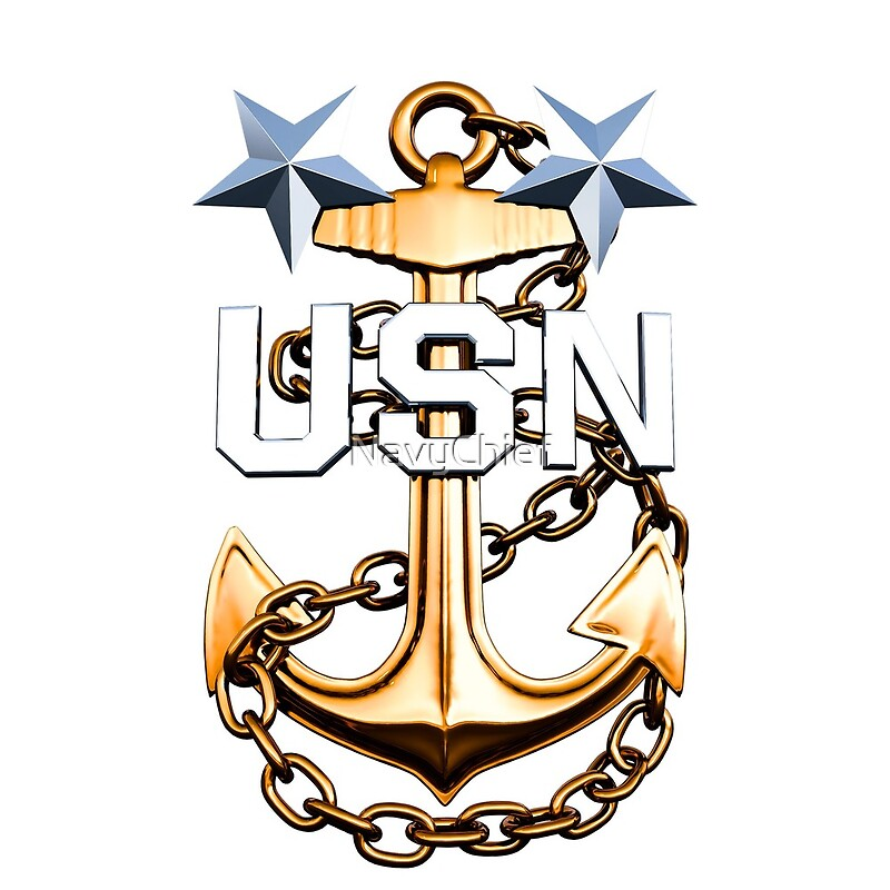 Quot A Master Chief Petty Officer S Gold Fouled Anchor Quot Art