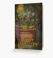 Happy Mother's Day Planter Greeting Greeting Card