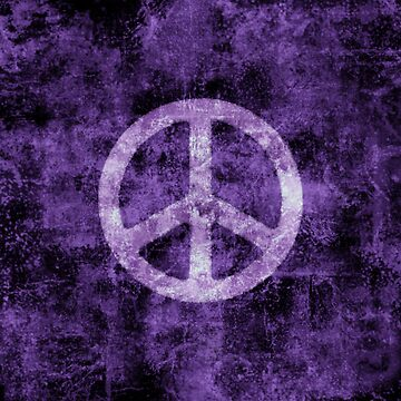 Distressed Purple Peace Sign by yarddawg
