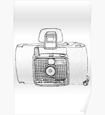 """Flashback"" retro Polaroid swinger camera Poster"