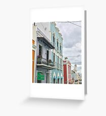 Old San Juan Streets Architecture Greeting Card