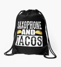 Saxophon und Tacos Lustige Taco Band Rucksackbeutel