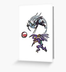 Khazix and Rengar Playtime Greeting Card
