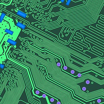 Green Circuit Board Illustration by yarddawg