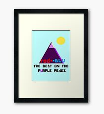Red-Blu: The Best on the Purple Peaks Framed Print