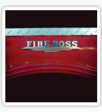 Fire Boss - Fort Worth - Texas - Fire Engine Sticker