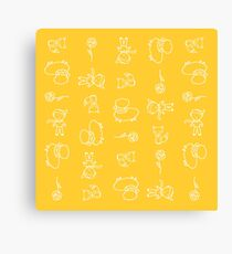 little prince's cute characters Canvas Print