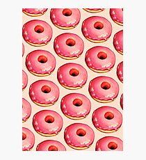 Strawberry Donut Pattern Photographic Print