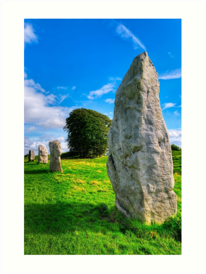 Avebury Standing Stones In The Sun by Mark Tisdale