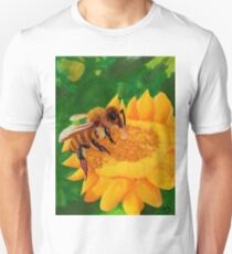 Bee On Sunflower Unisex T-Shirt