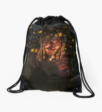 Spark in the Night Drawstring Bag
