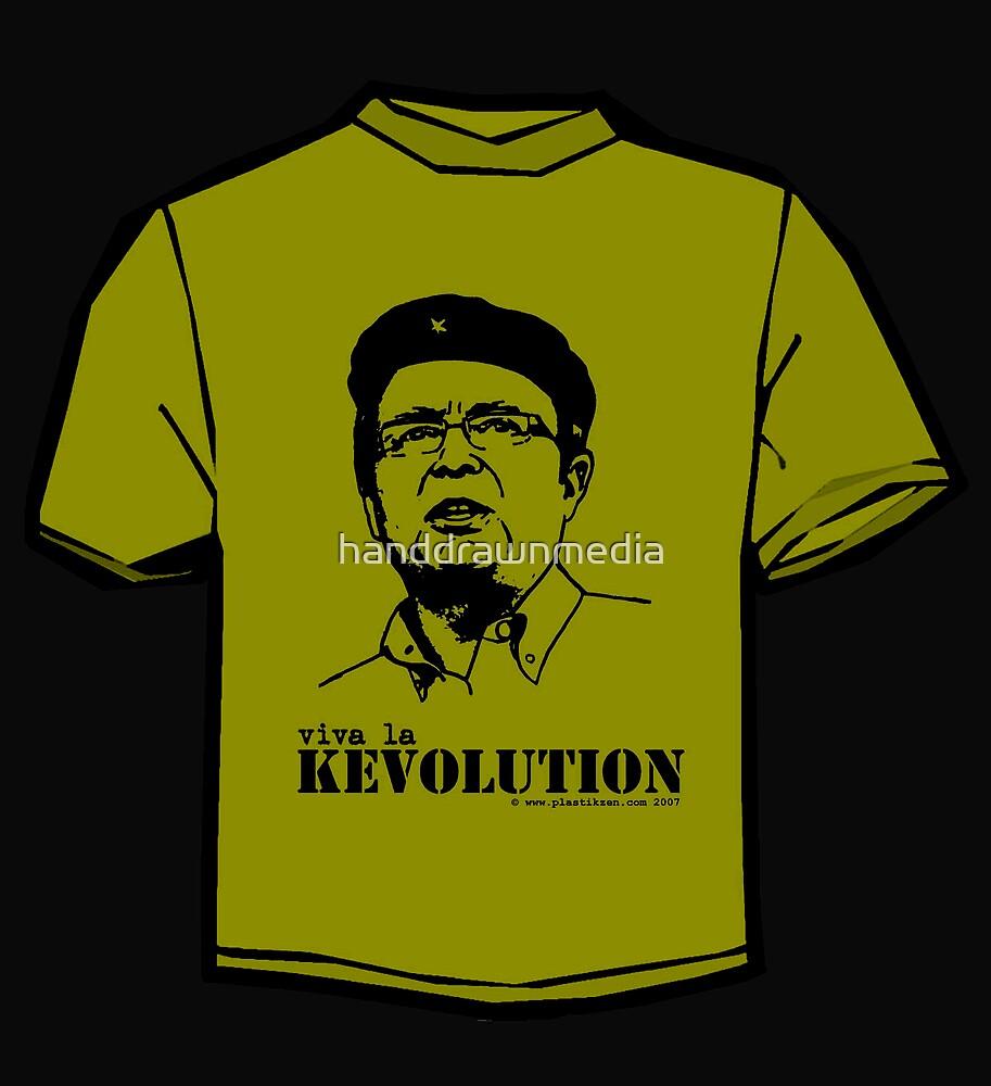 Viva la Kevolution (green) by handdrawnmedia