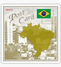 Brazil Curio Post Card Sticker