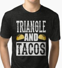Triangle and Tacos Funny Taco Band Tri-blend T-Shirt