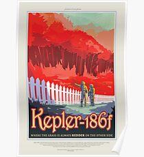 NASA JPL Exoplanet Reisebüro: Kepler-186f Poster