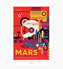 NASA JPL Space Tourism: Mars Photographic Print