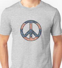 American Flag Peace Sign Unisex T-Shirt