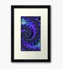 Cool Colors Fractal Framed Print