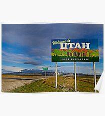 Willkommen in Utah Leben erhöht Poster
