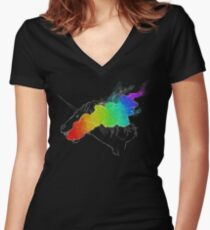 I Breathe the Rainbow Women's Fitted V-Neck T-Shirt