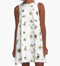 Bumble Bees A-Line Dress