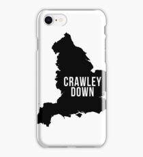 Crawley Down, West Sussex England UK Silhouette Map iPhone Case/Skin