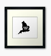 Crawley Down, West Sussex England UK Silhouette Map Framed Print