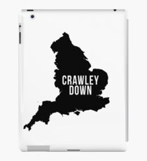Crawley Down, West Sussex England UK Silhouette Map iPad Case/Skin