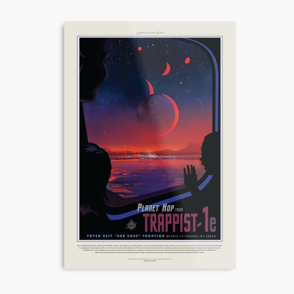 NASA JPL Exoplanet Reisebüro: TRAPPIST-1e Metallbild