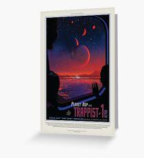 NASA JPL Exoplanet Travel Bureau: TRAPPIST-1e Greeting Card