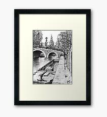 Amsterdam Boat Framed Print